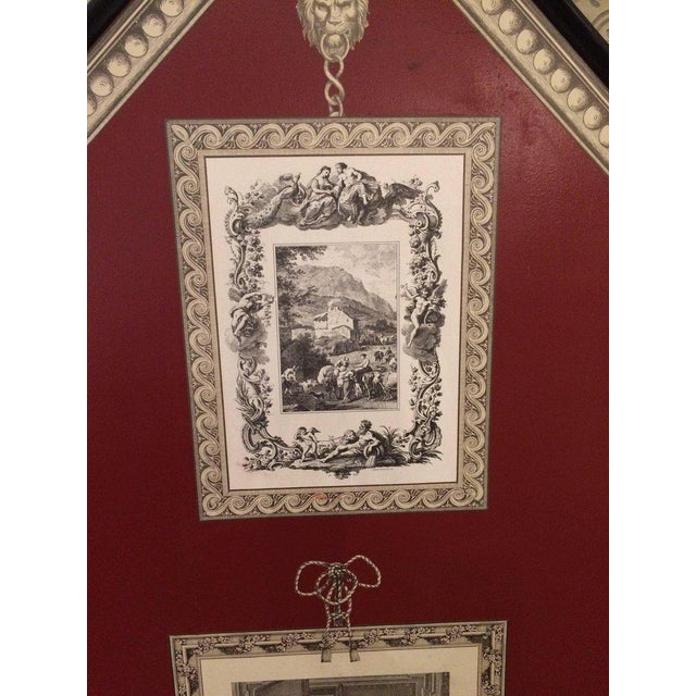 1980s Graphic Fornasetti Style 3 Panel Screen For Sale - Image 5 of 7