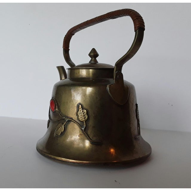 Asian Vintage Chinese Brass Teapot For Sale - Image 3 of 5