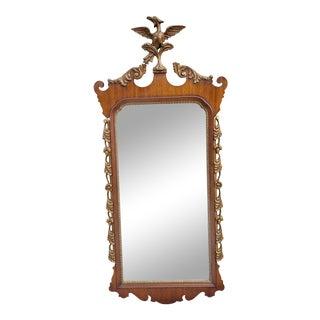 Vintage Melrose Park Friedman Brothers George II Style Eagle Top Gilt Mahogany Mirror For Sale