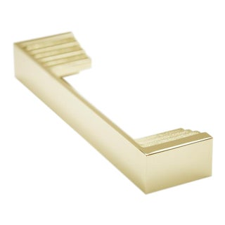 Step-01 Polished Brass No Lacquer Handle For Sale