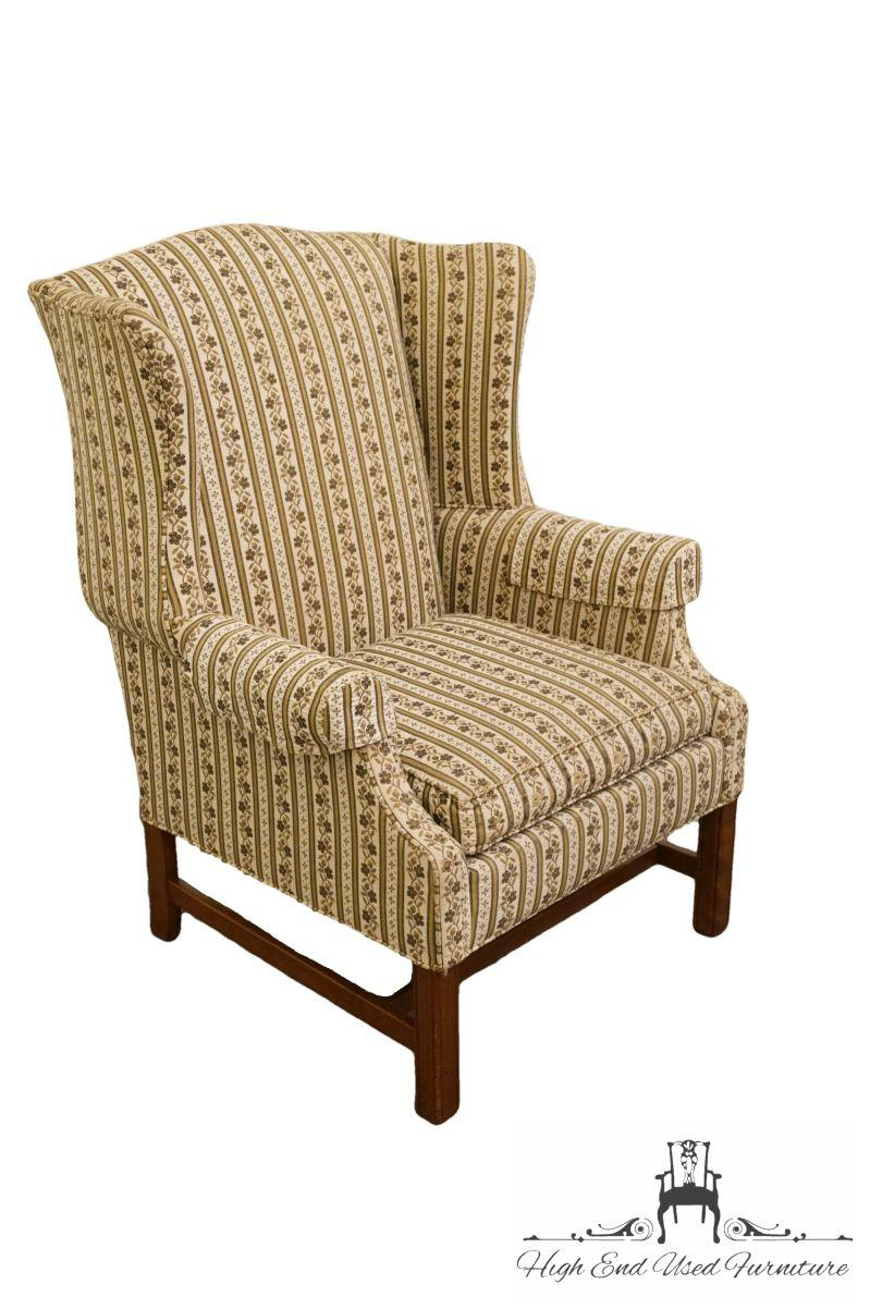 This Is A Vintage Ethan Allen Wingback Chair. The Piece Was Made In The Late