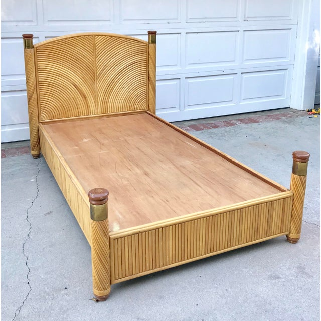Rattan Twin Bed Frame - Image 2 of 7