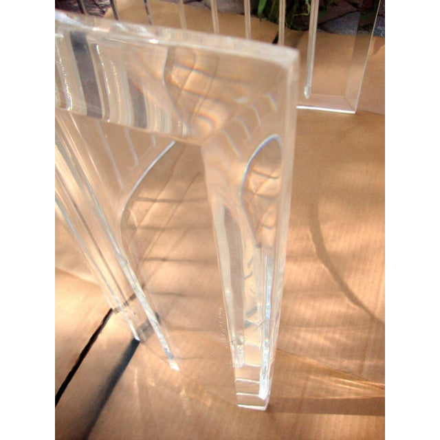 Mid-Century Lucite Coffee Table Bases - A Pair - Image 4 of 9
