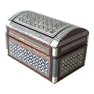 Moroccan Inlaid Mother-of-Pearl and Wood Box
