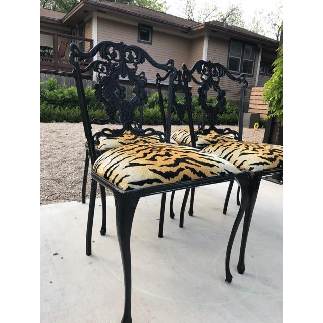 French Garden Chairs - Set of 4 - Image 4 of 6