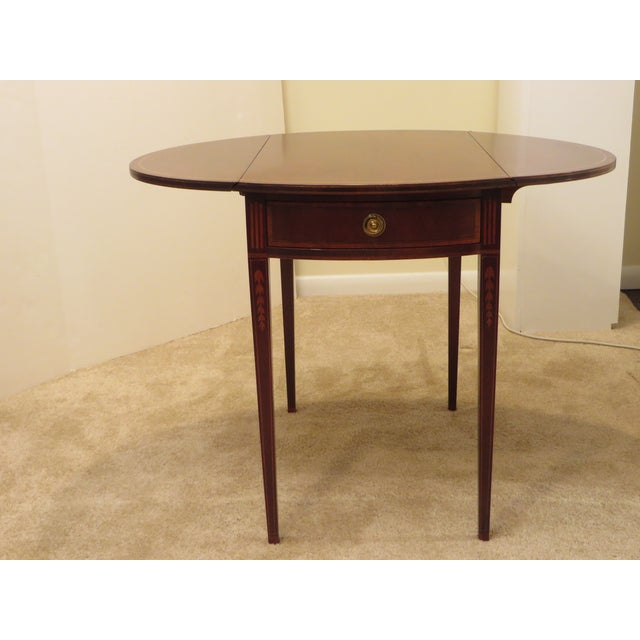 Early 20th Century Antique Baker Furniture Drop Leaf Pembroke Table For Sale - Image 13 of 13