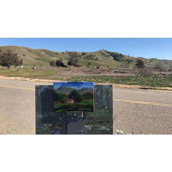PENA ADOBE PARK - Vacaville, California - 6 x 8 - Eucalyptus Trees - Original Oil Painting - Wall Hanging - Cottage Chic -...