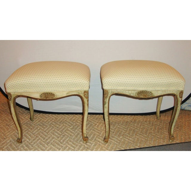 French French Painted Stools - A Pair For Sale - Image 3 of 9