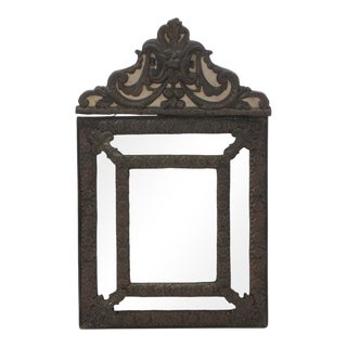 Dutch Baroque Beveled Metal Mirror Early 19th C. For Sale