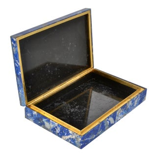 Lapis Lazuli Lidded Box, Italy Circa 1960s For Sale