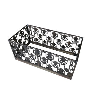 Art Deco Iron Flower Box Planter With Extra Elements