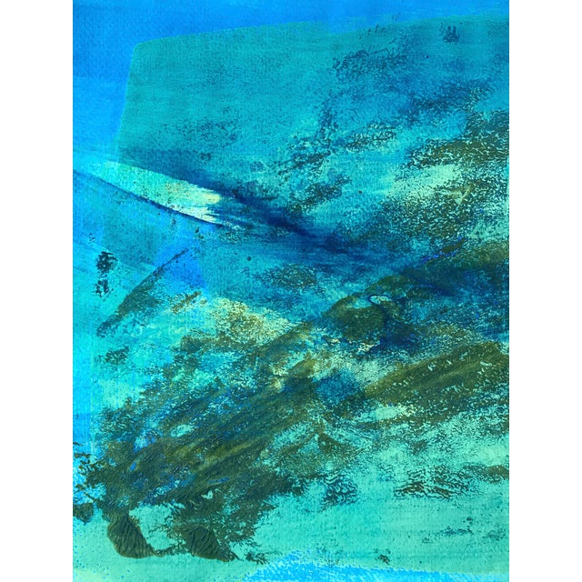 "1980s 1980s Original Bay Area Artist ""Blue Green Pt. 1"" For Sale - Image 5 of 7"