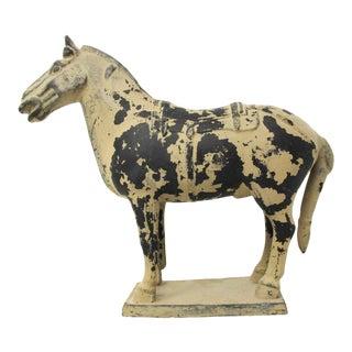 1998 Qin Dynasty Terracotta Warrior Horse Replica Figurine For Sale
