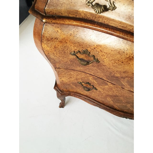 Italian Bombe Parquetry Commode For Sale - Image 9 of 10