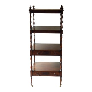 English Mahogany Etagere With Drawers