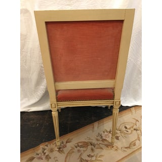 Louis XVI Style Arm Chairs in Pink Velvet - a Pair Preview