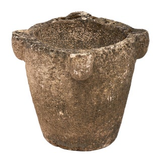 1920s French Stone Mortar Jardiniere For Sale