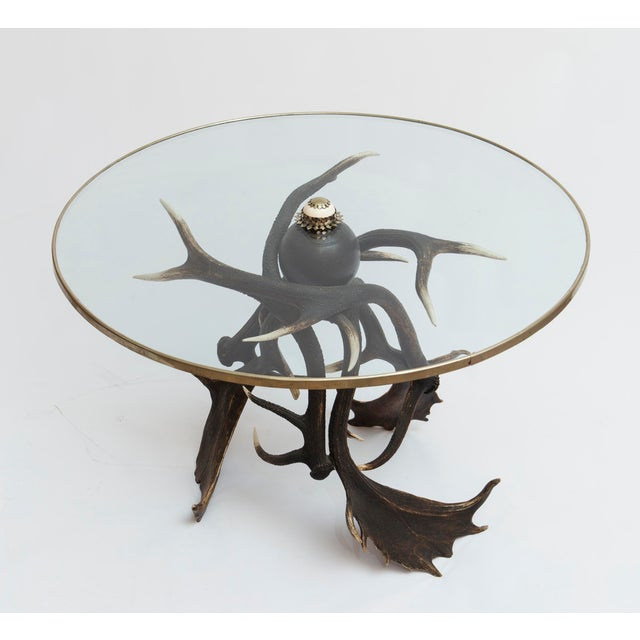 Mid 19th Century 19th Century Lodge Antler Based Side Table For Sale - Image 5 of 13
