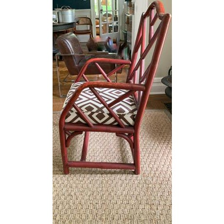 Mid 20th Century Vintage Chinese Chippendale Fretwork Chair For Sale - Image 5 of 7