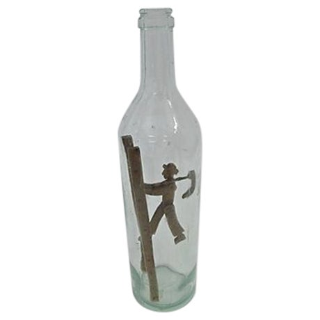 Antique Hand-Carved French Bottle Art - Image 1 of 3