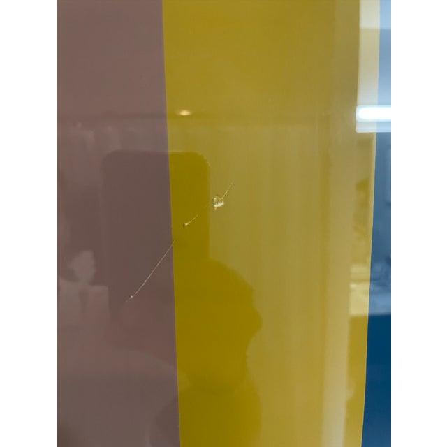 Mid-Century Modern Late 20th Century Gene Davis Minimalist Poster, Framed For Sale - Image 3 of 4
