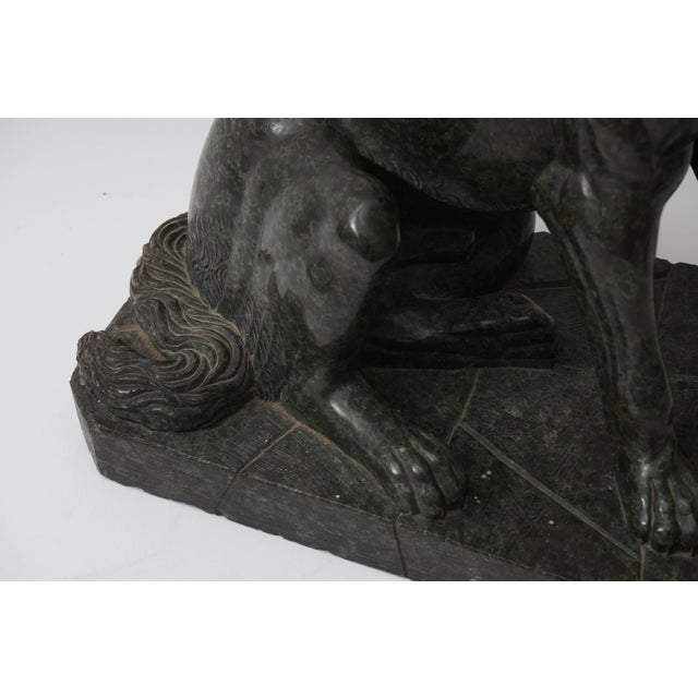 """Late 19th Century 19th Century Italian Grand Tour """"Molossian Hound"""" Marble Sculpture For Sale - Image 5 of 12"""