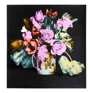 Roses and Tulips in Chinese Mug (Black)