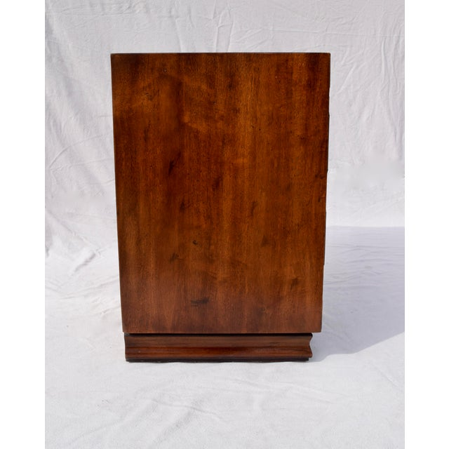 1980s Henredon Pan Asian Tansu Campaign Mahogany Bachelor Chest For Sale - Image 5 of 9