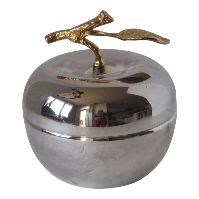 Silver-Plate & Brass Apple For Sale