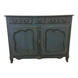 18th Century French Antique Painted Sideboard Buffet For Sale