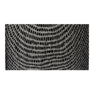 Aboriginal Scales 9' x 12' Rug - Gray/Black For Sale