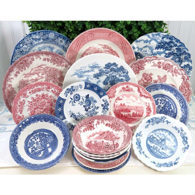 Mismatched Ironstone China Set, Service for 6 For Sale - Image 11 of 11