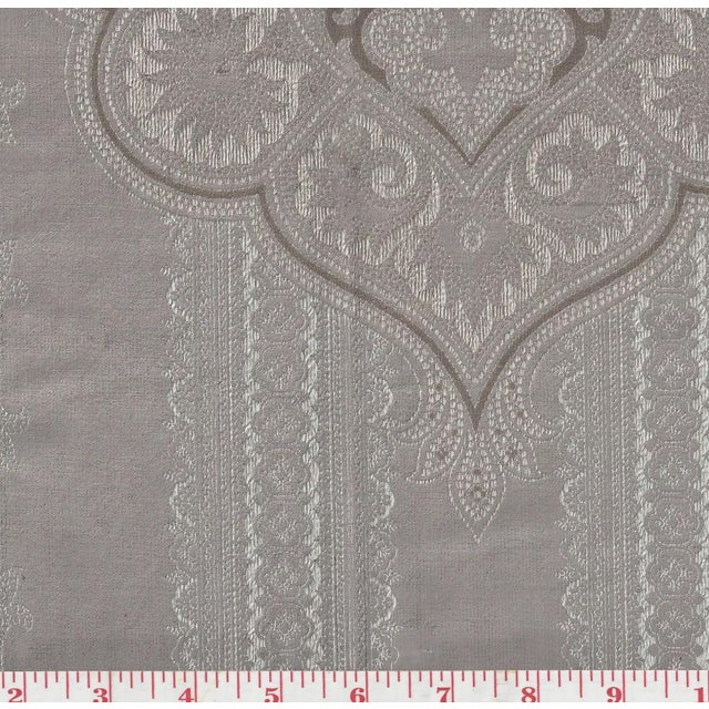 Casimir Gilded Paisley Fabric in Pewter - Image 2 of 2
