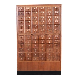 Mid-Century 72-Drawer Library Card Catalog For Sale
