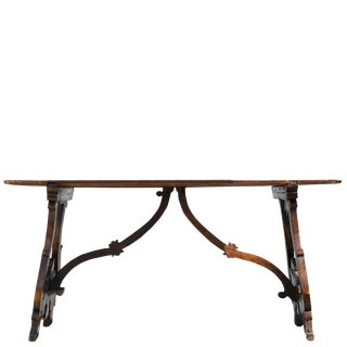 18th Century Carved Oak Italian Table For Sale