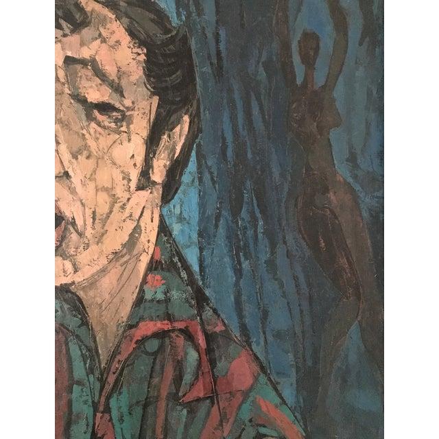 "Richard Campbell Mid-Century ""Minstrel"" Original Painting - Image 4 of 6"