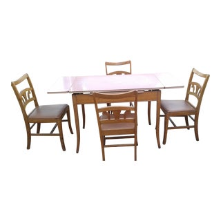Vintage Dining Table With 4 Chairs
