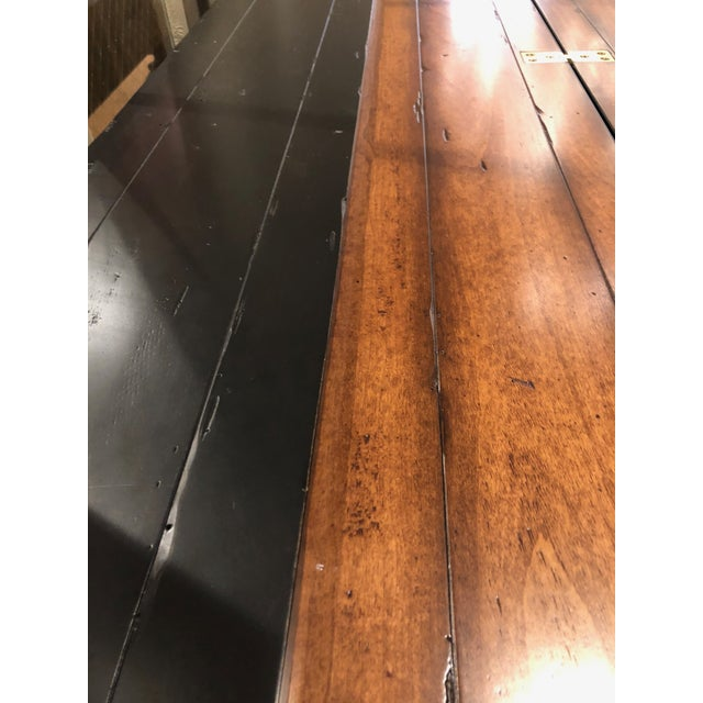 Wood Flip Top Console Table For Sale - Image 7 of 13