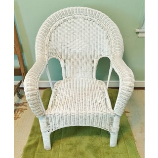 Vintage Wicker Fan Back Armchair Preview