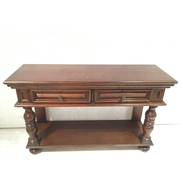 Traditional Wood Sofa Table - Image 2 of 8