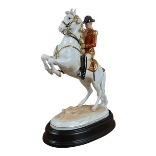 Augarten Wien Viennese Porcelain Horse and Rider For Sale