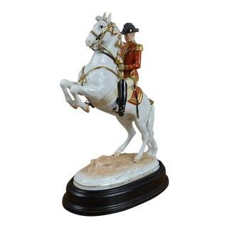 Augarten Wien Viennese Porcelain Horse and Rider