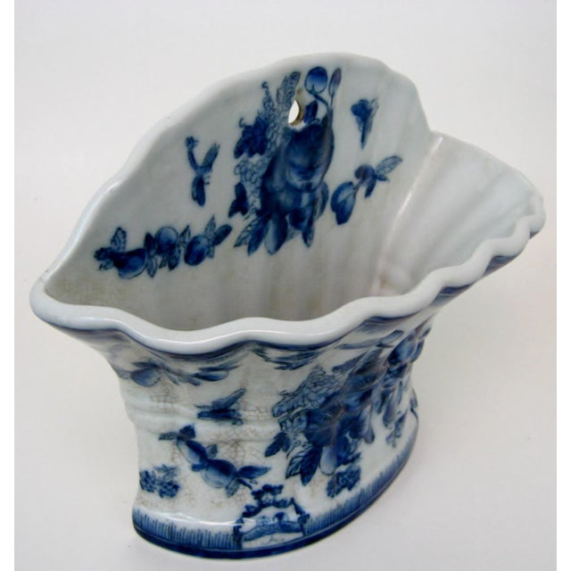 Blue & White Porcelain Wall Pocket Planter - Image 5 of 7
