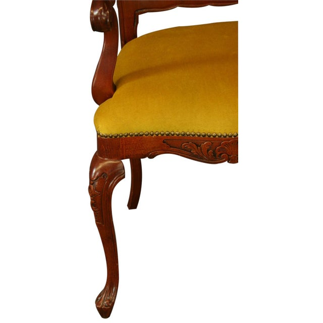 Italian Rococo Arm Chair with Inlaid Marquetry - Image 6 of 8