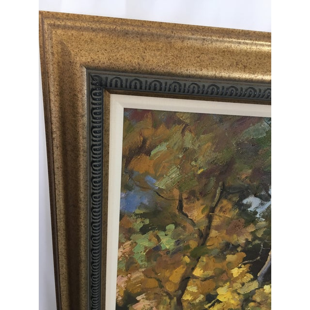 Late 20th Century Oil on Canvas Landscape Painting For Sale In Detroit - Image 6 of 10
