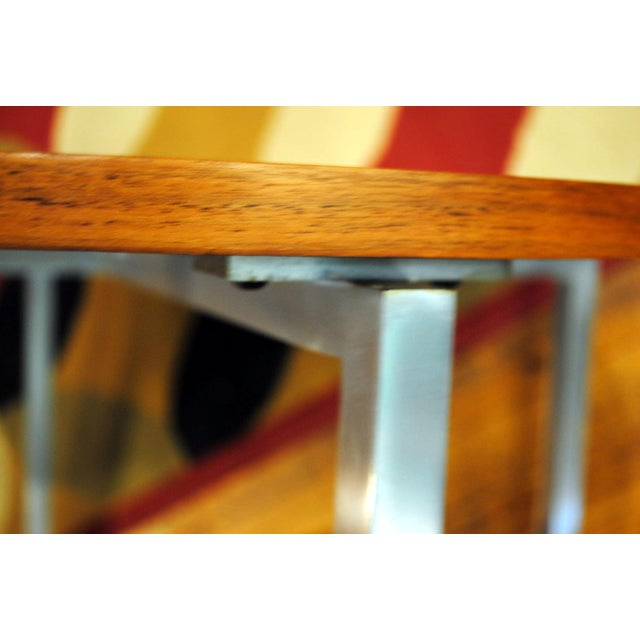 1960s Florence Knoll Mid-Century Round Side Tables - A Pair For Sale - Image 9 of 9