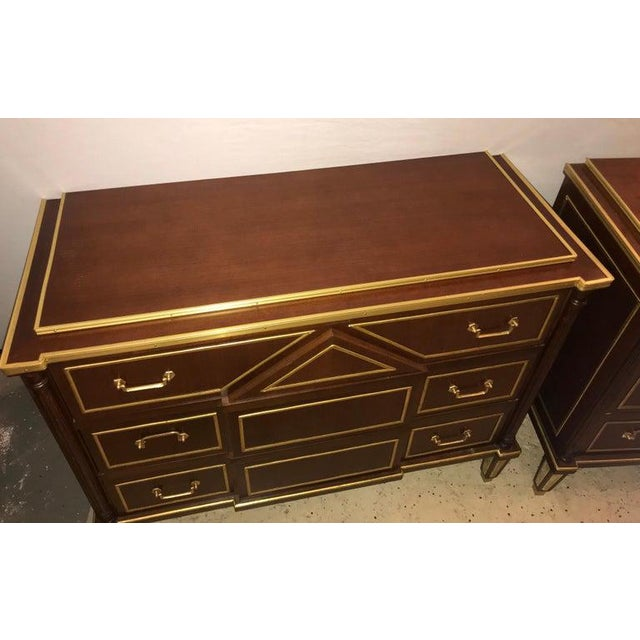Brown Pair of Russian Neoclassical Style Commodes / Bedside Nightstands or Servers For Sale - Image 8 of 13