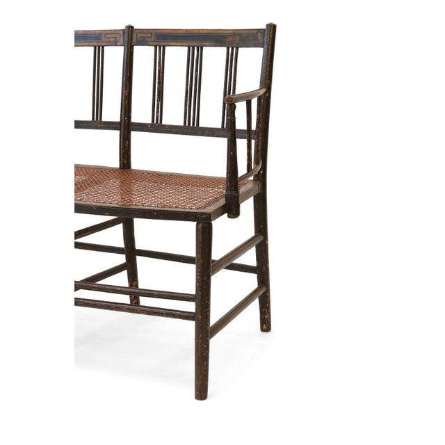 English Regency Caned Settee For Sale - Image 3 of 12