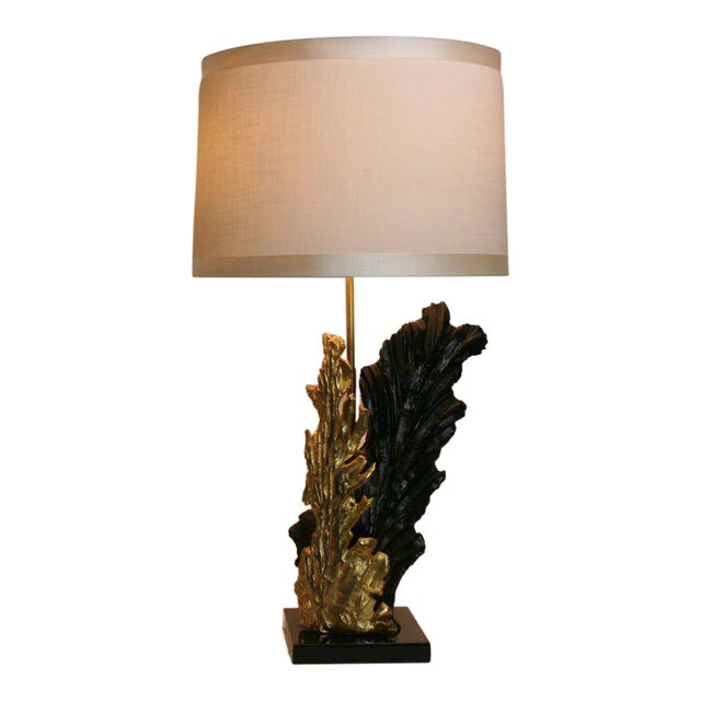 French Gilt & Resin Lamp For Sale