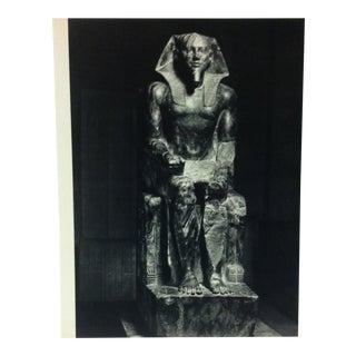 "Circa 1970 ""Pharaoh Chephren"" Great Sculpture of Ancient Egypt Print For Sale"